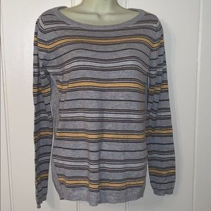 Stitch Fix Teeberry & Weave gray striped sweater